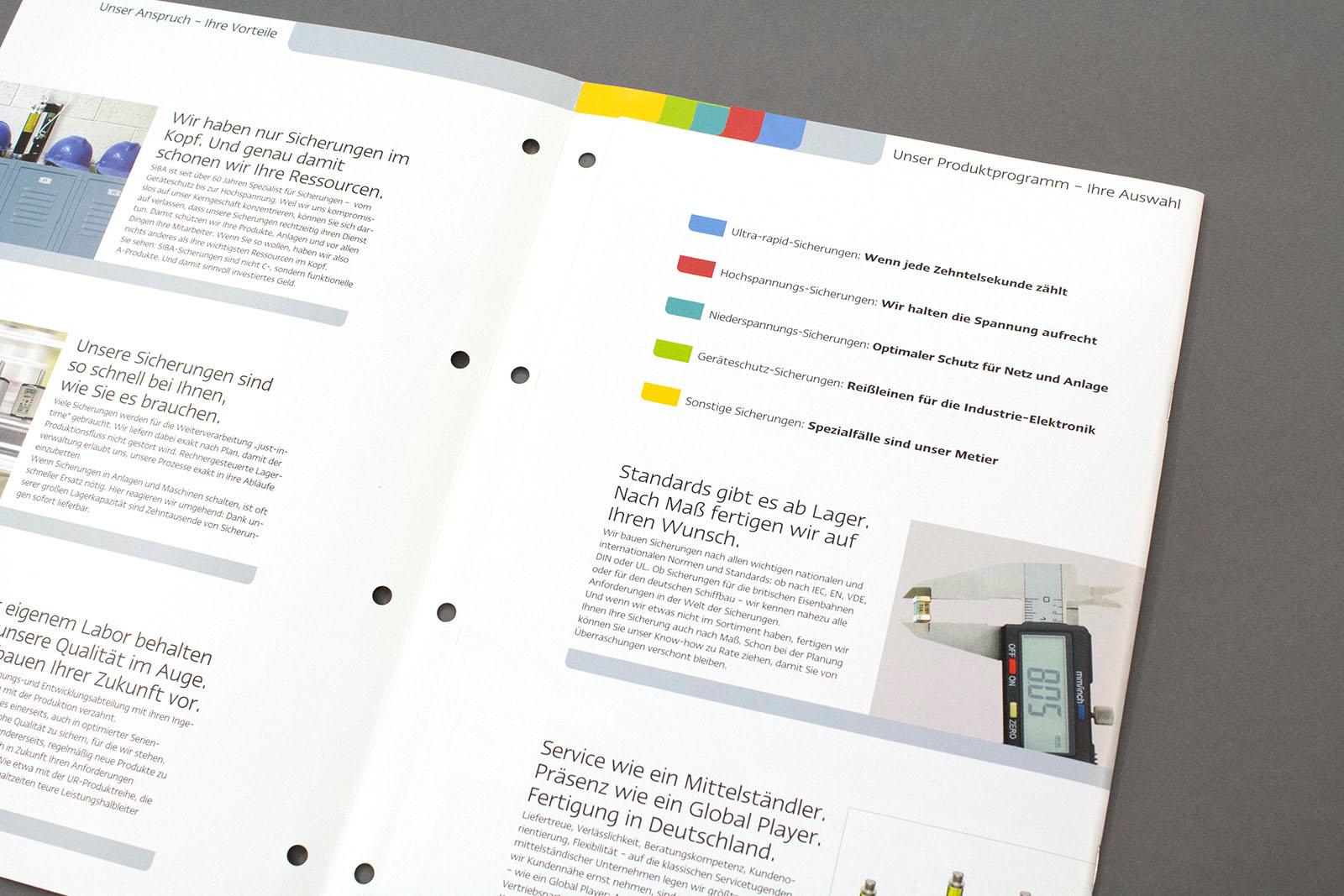 Inhaltsseite SIBA-Imagebroschüre